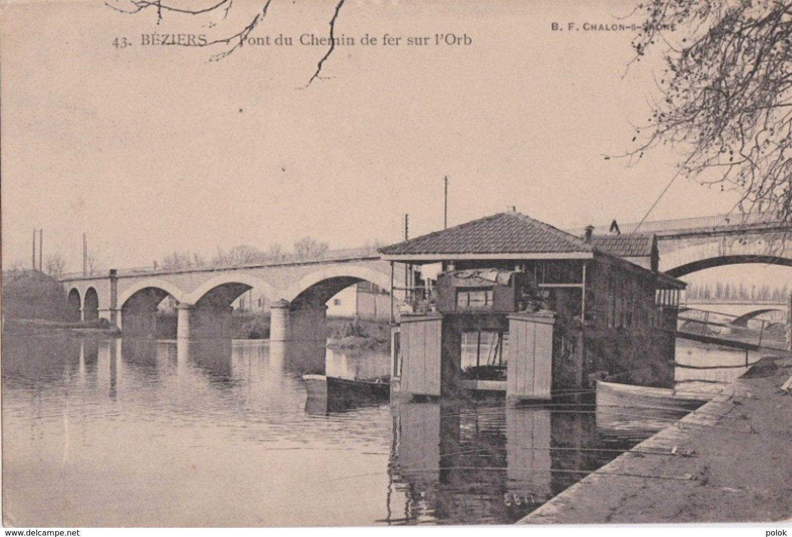 Bv - Cpa BEZIERS - Pont Du Chemin De Fer Sur L'Orb - Beziers