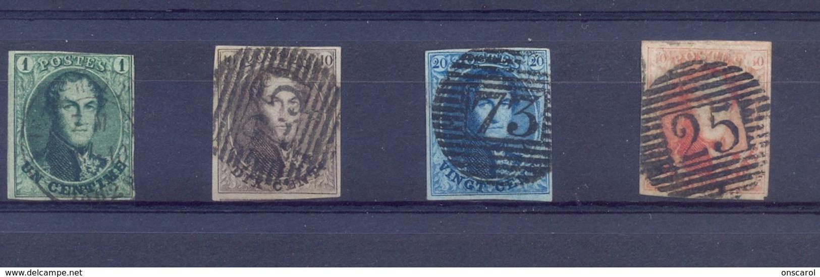 Nrs. 9/12 Gestempeld (used)  250 Côte - 1858-1862 Medaillen (9/12)