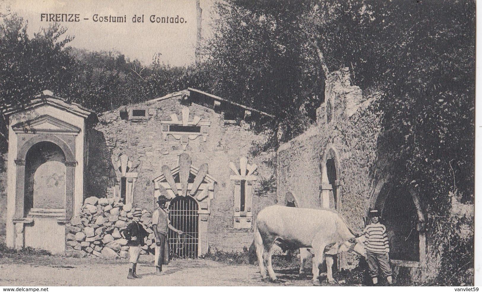 FIRENZE-COSTUMI DEL CONTADO-BELLA CARTOLINA ANIMATA NON VIAGGIATA ANNO 1910-1920 - Firenze