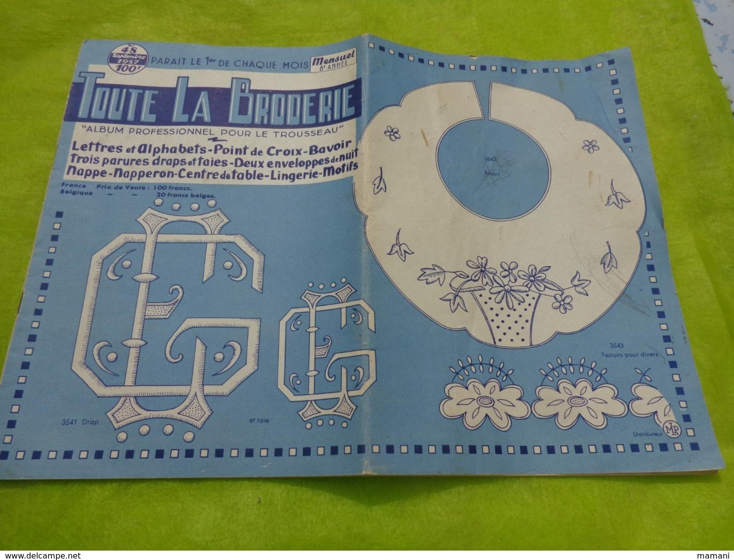 Lot De 11 Revues Toute La Broderie - Cross Stitch