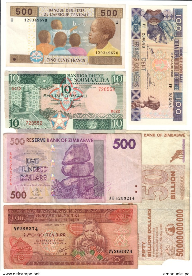 Africa Lot 6 Banknotes - Banconote