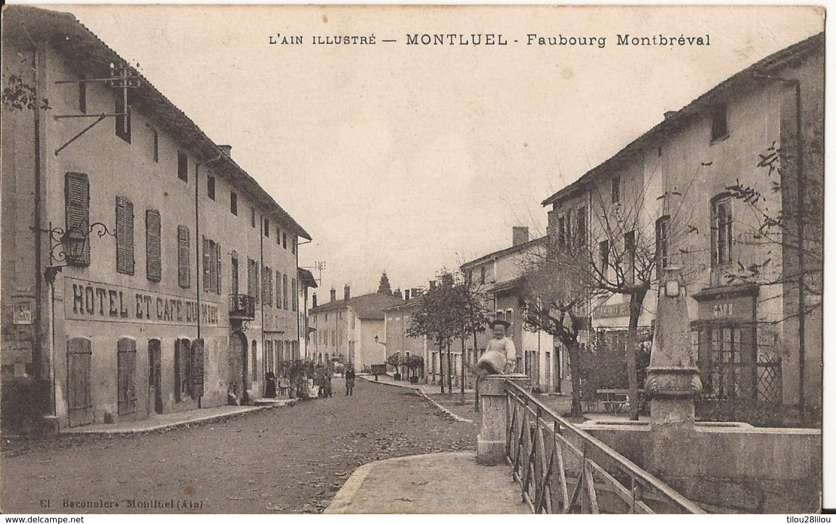CPA MONTLUEL FAUBOURG MONTBREVAL - Montluel