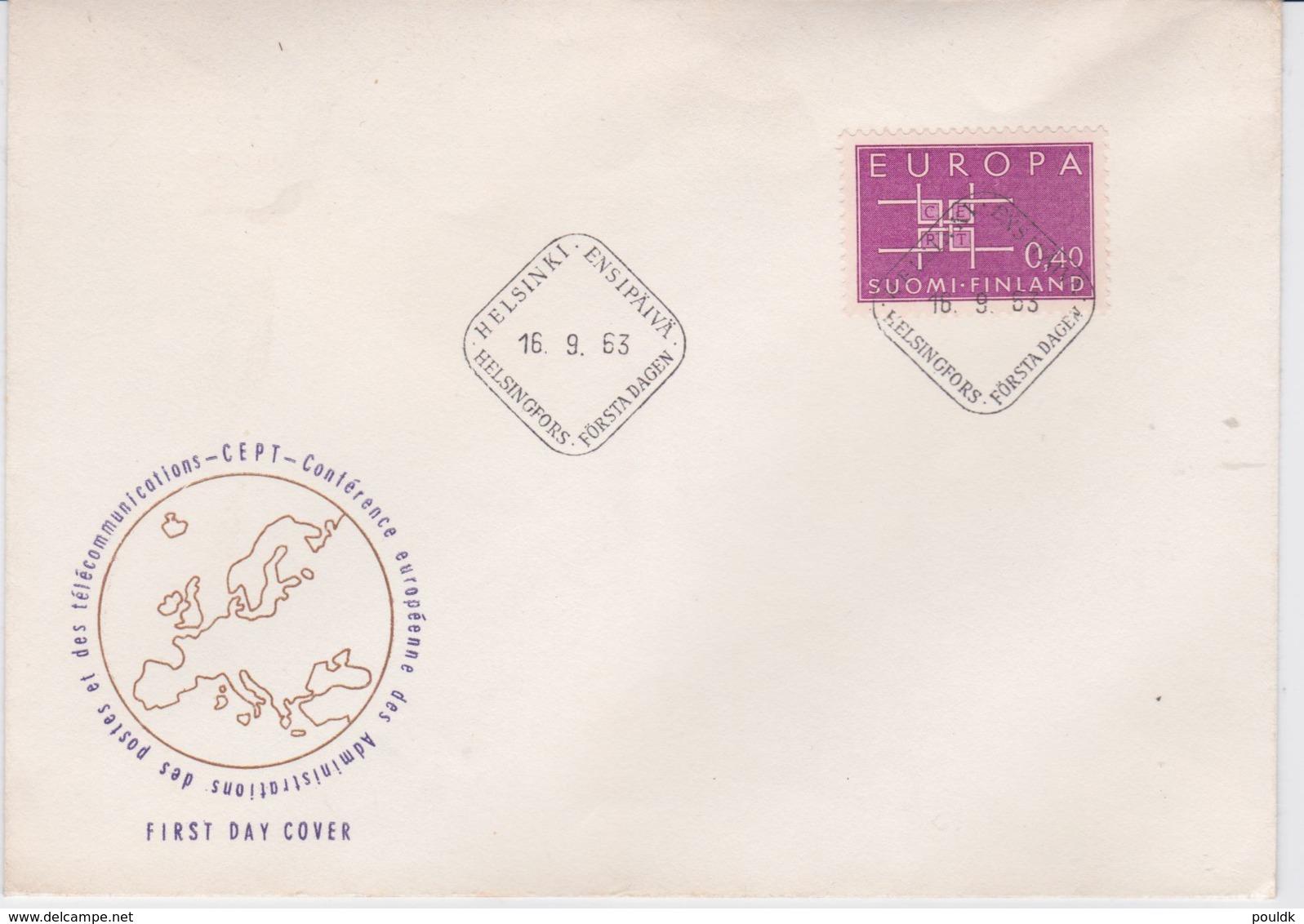 Finland 1963 FDC Europa CEPT (SKO16-47) - Europa-CEPT
