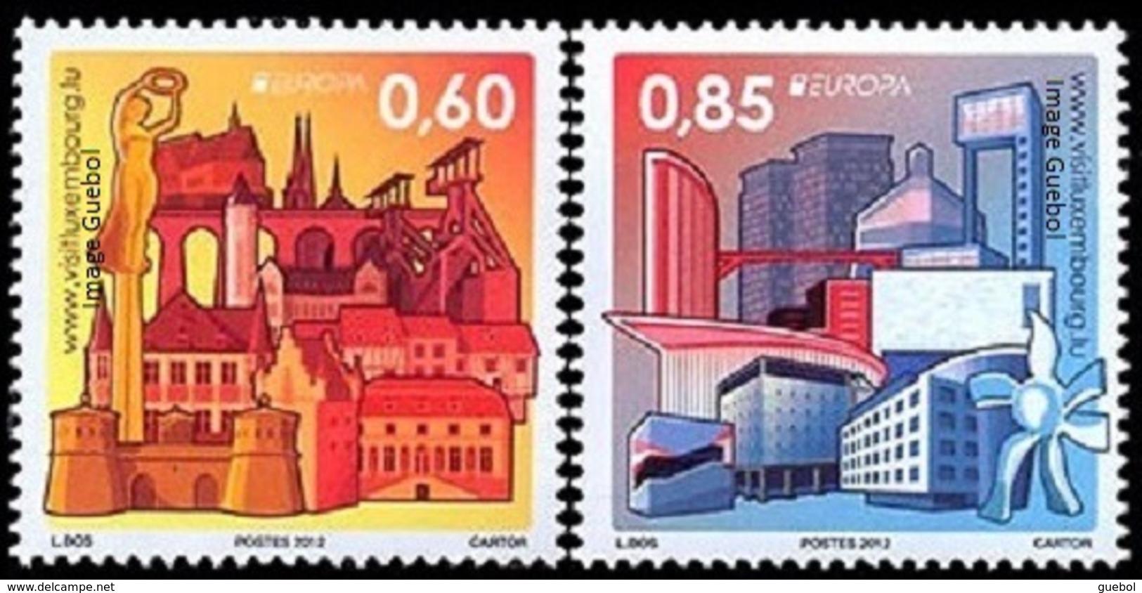 CEPT / Europa 2012 Luxembourg N° 1848 Et 1849 ** Tourisme - 2012