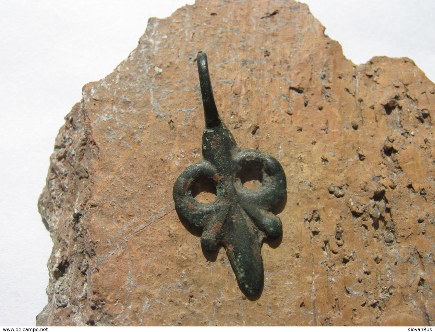 Ancient Vikings Bronze Amulet Decoration Of 9-11 Centuries - Archéologie