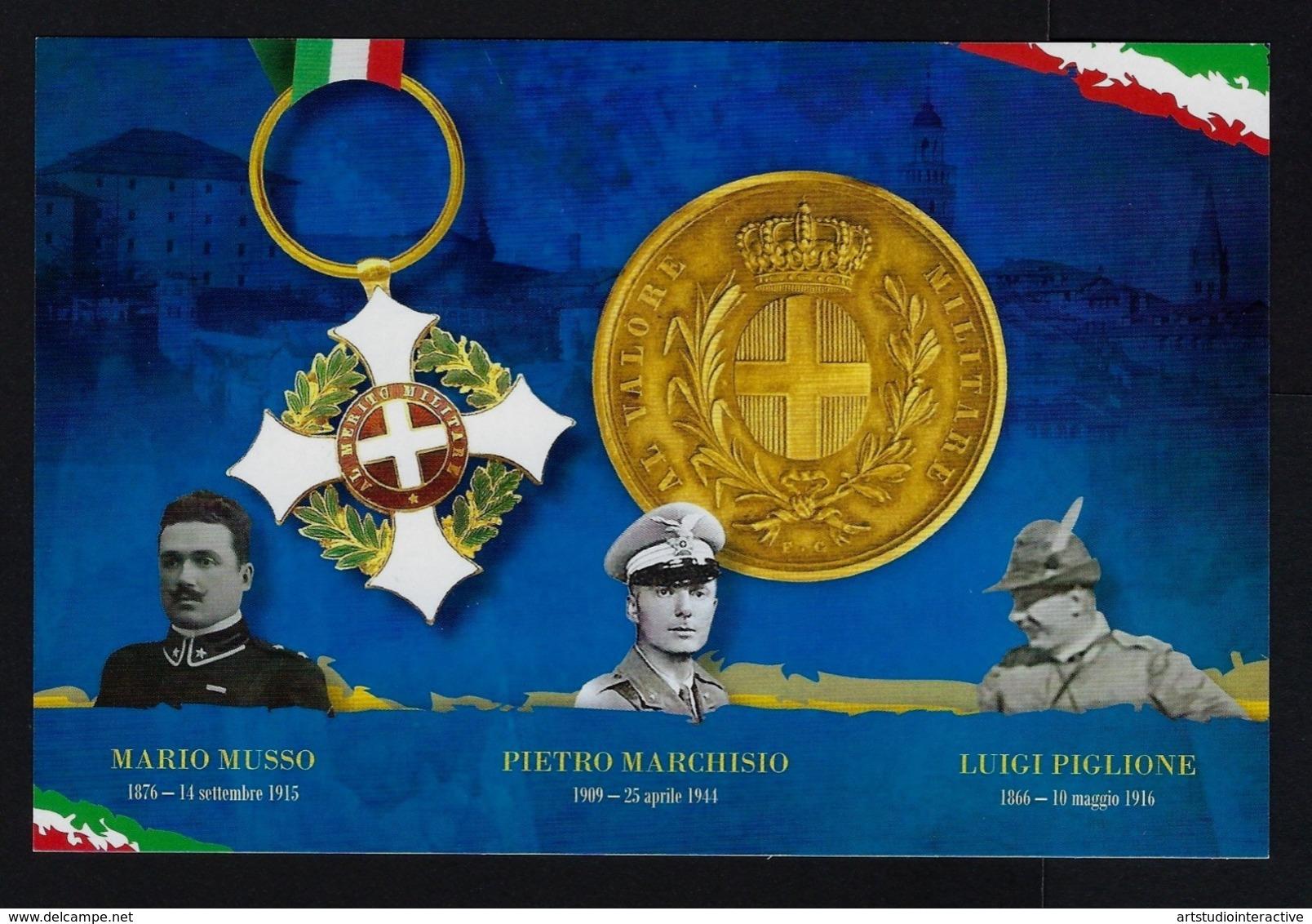 """2017 ITALIA REPUBBLICA """"20° RADUNO A.N.A. SALUZZO / CENTENARIO GRANDE GUERRA"""" KIT CARTOLINE 08.10.2017 (ANN. SALUZZO) - Italia"""