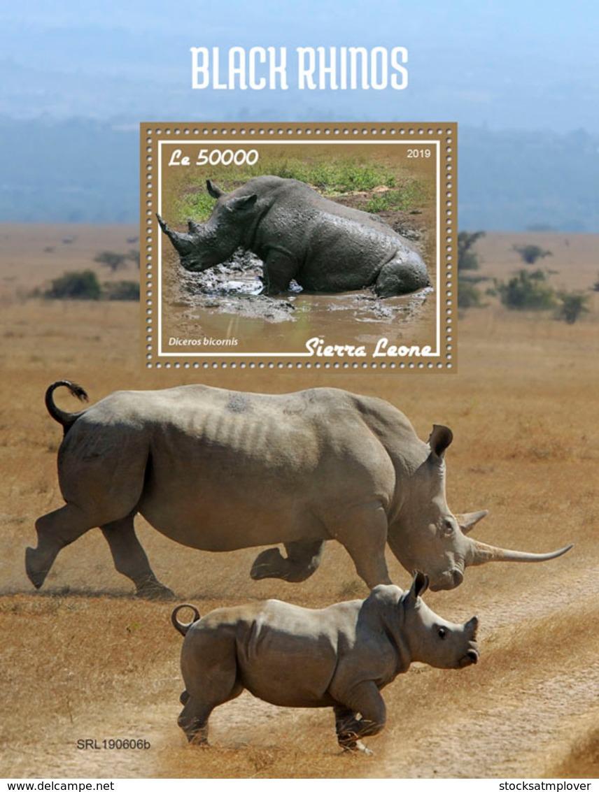 Sierra Leone 2019 Fauna  Black Rhinos S201908 - Sierra Leone (1961-...)