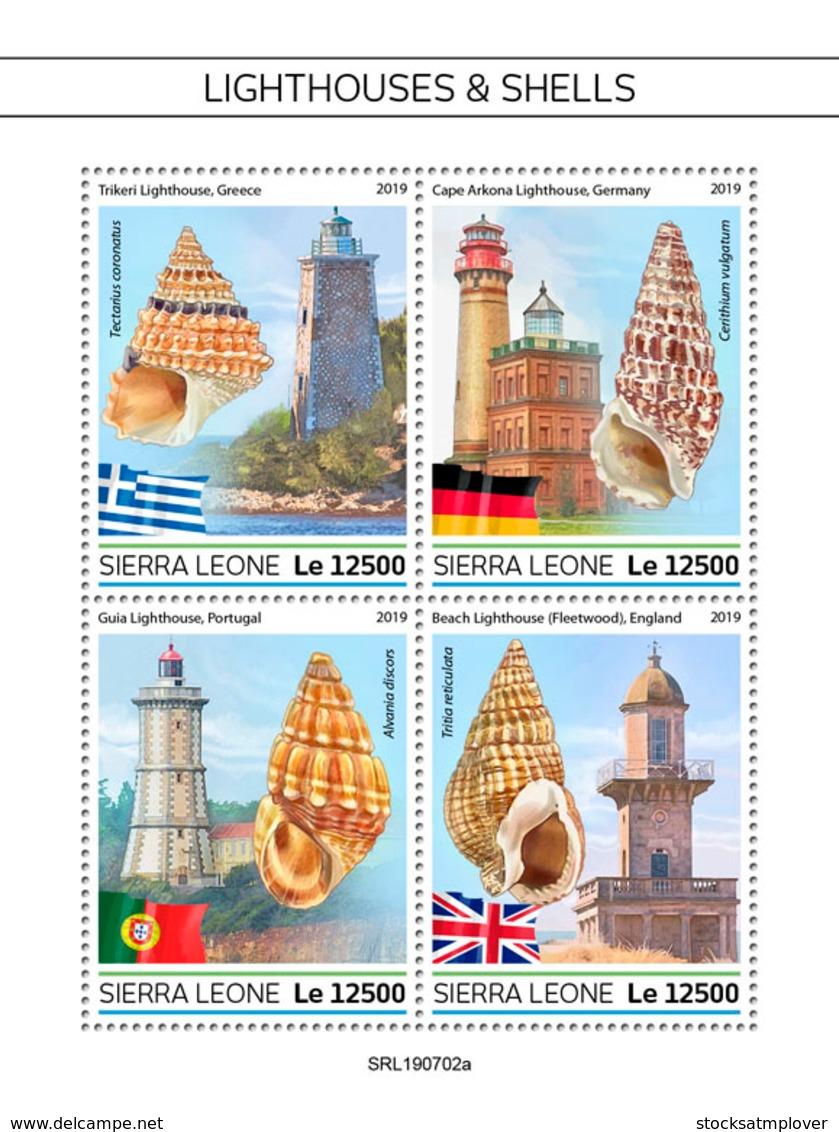 Sierra Leone 2019 Lighthouses And Shells   S201908 - Sierra Leone (1961-...)