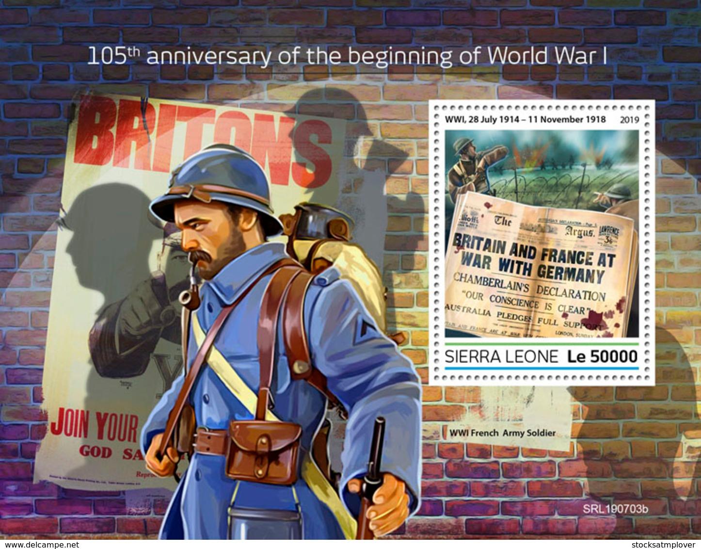 Sierra Leone 2019 World War I S201908 - Sierra Leone (1961-...)
