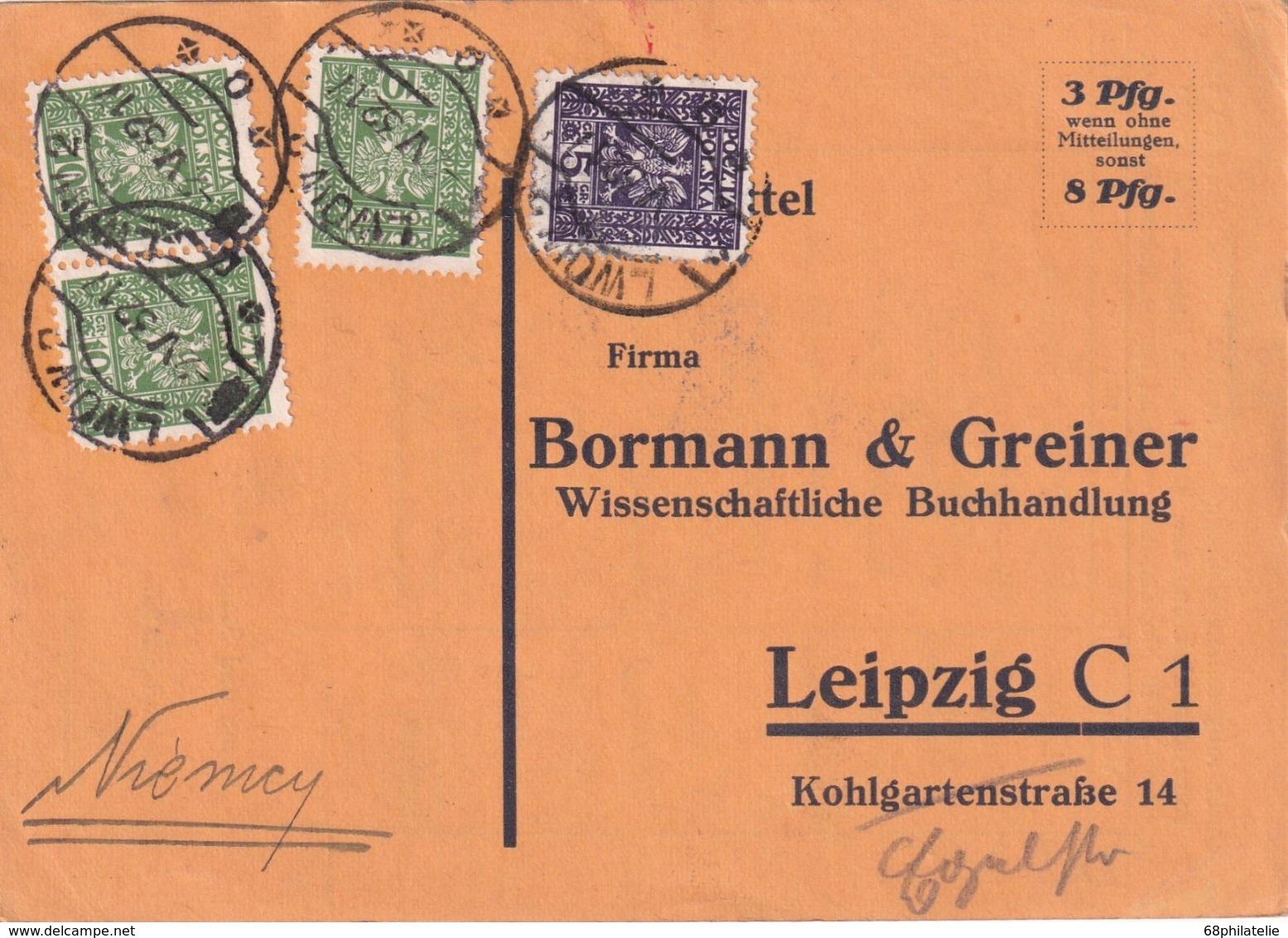 POLOGNE 1932 CARTE DE LWOW - 1919-1939 Republic
