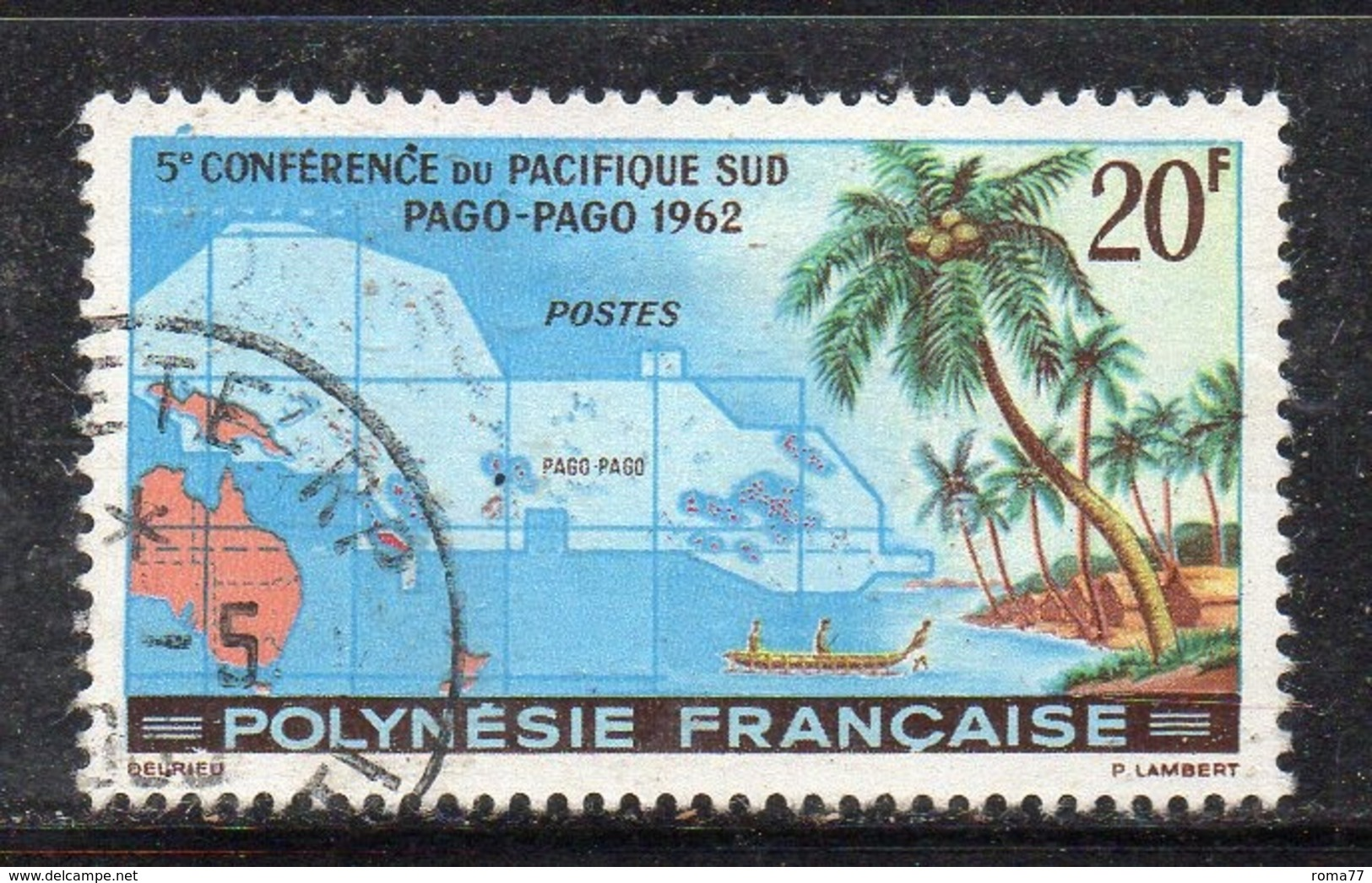 APR1477 - POLINESIA 1962 ,  Yvert N. 17  (2380A)  Usato - Polinesia Francese