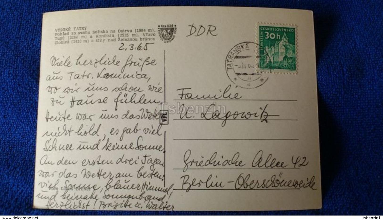 Vysoké Tatry Pohlad Zo Svahu Soliska Na Ostrvu Slovakia - Slovacchia