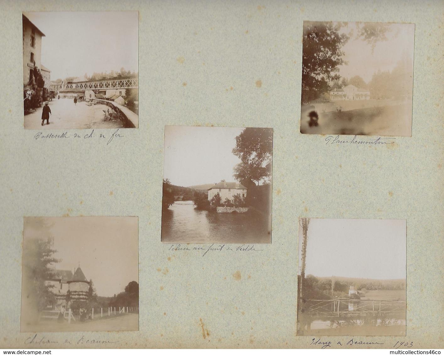 230919 - 10 PHOTOS 1903 - 87 EYMOUTIERS Planchemouton écluse Beaune - 72 BEAUMONT SUR SARTHE Pont  61 ALENCON Cathédrale - Eymoutiers