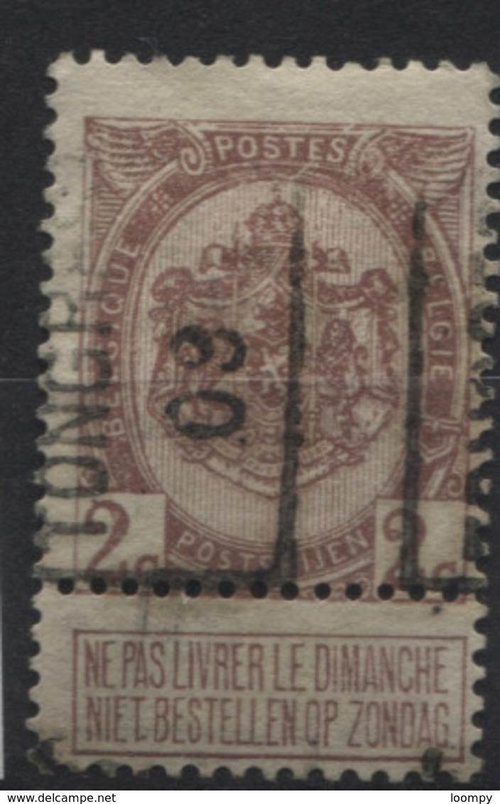PREOS Roulette - TONGRES 1909 (position A). Cat 1402 Cote 750. - Precancels