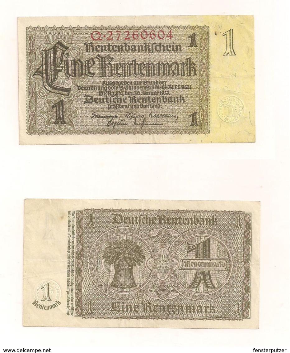 Eine Rentenmark - Berlin, 30.Januar 1937 - [ 4] 1933-1945 : Terzo  Reich