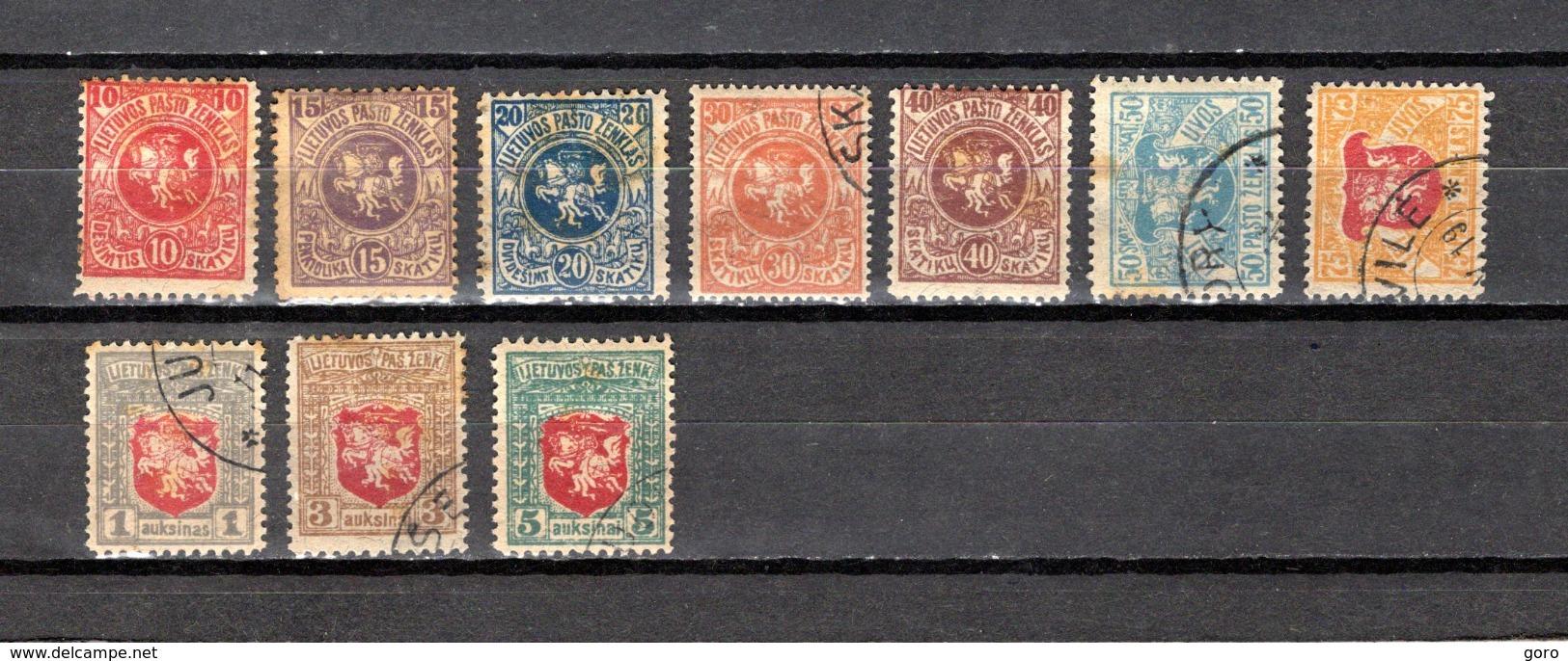 Lituania    1919   .-   Y&T  Nº    25/34 - Lituania