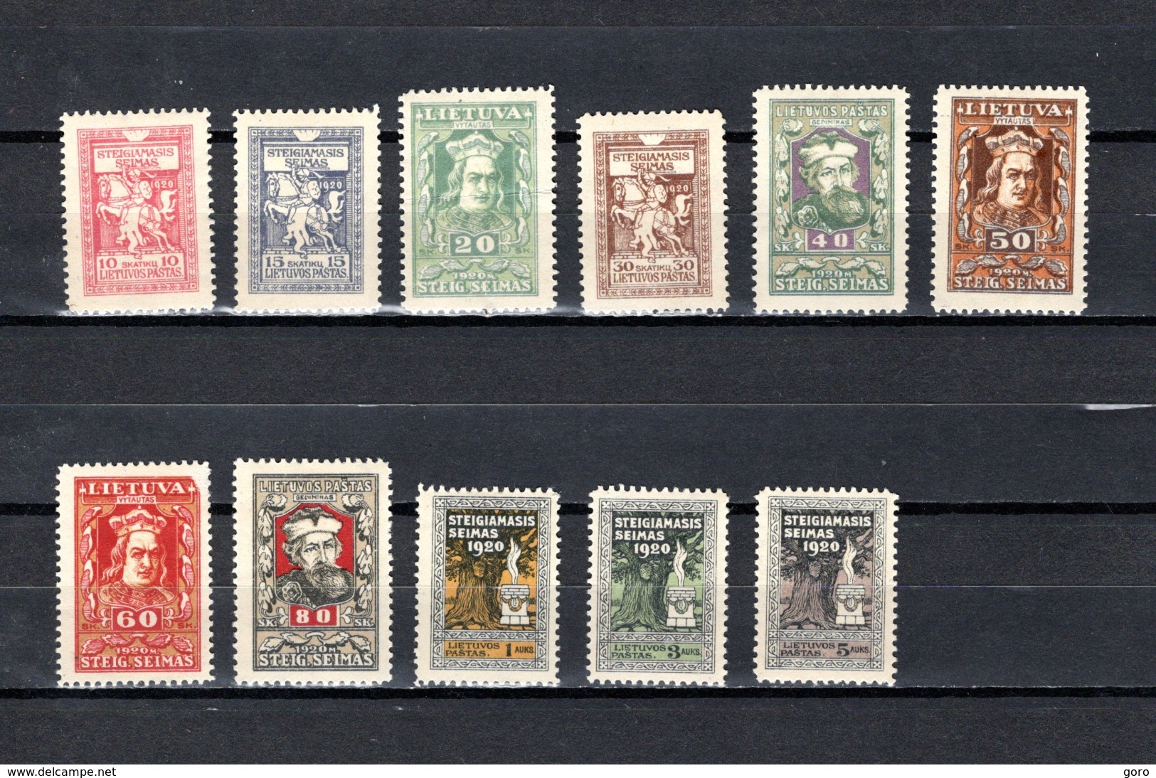 Lituania    1920   .-   Y&T  Nº    67/77 - Lituania