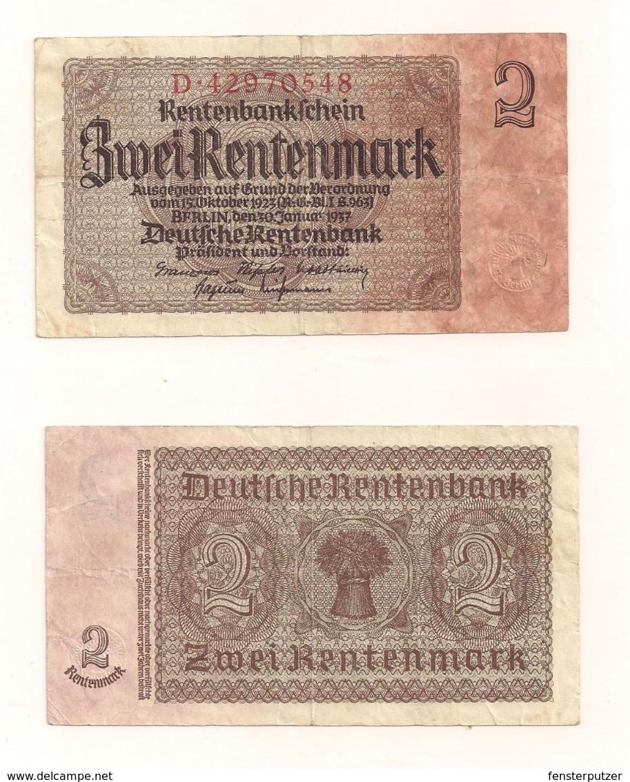 Zwei Rentenmark - Berlin, 30.Januar1937 - Sonstige