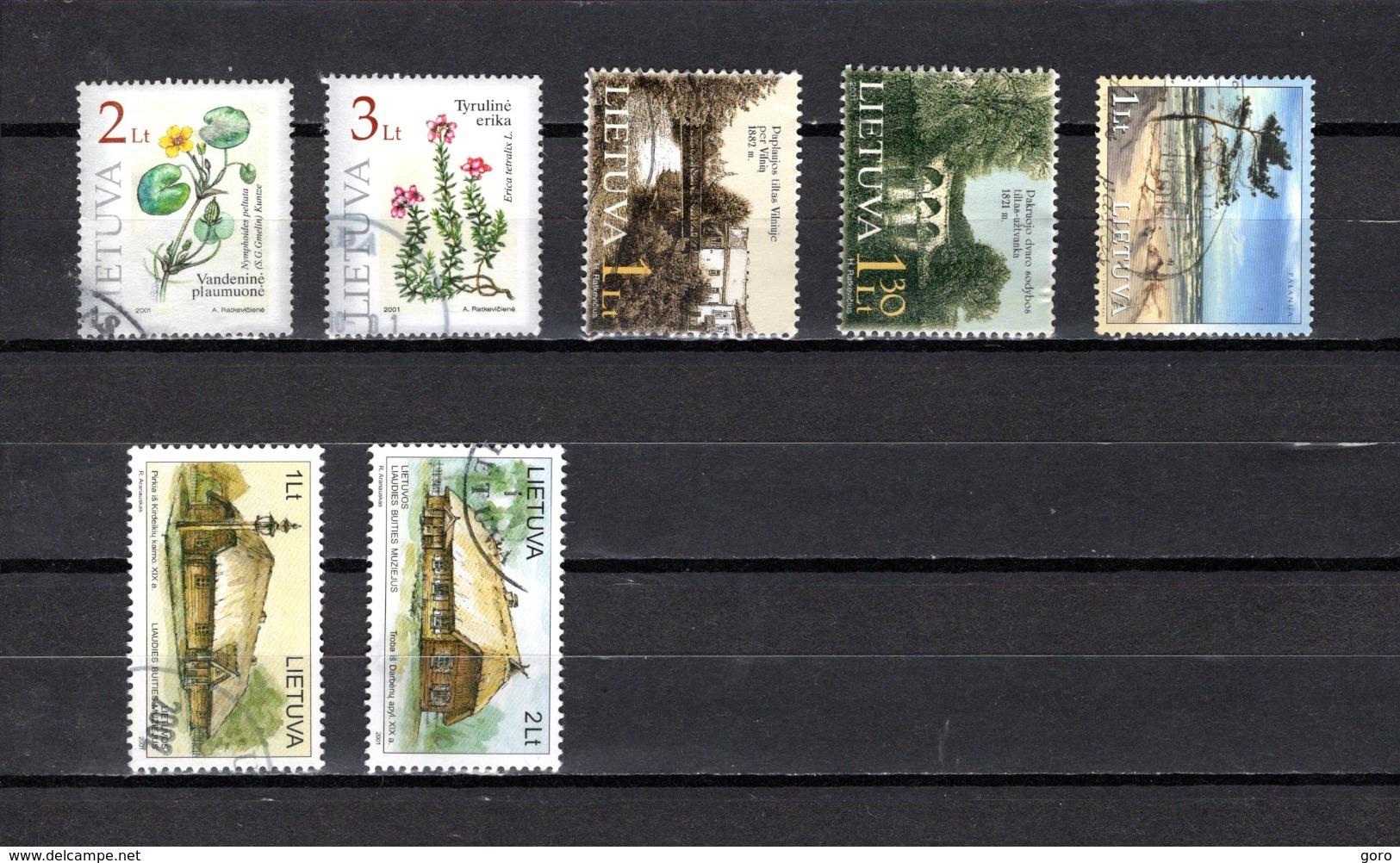 Lituania   2001  .-  Y&T  Nº  664/665-666/667-668-669/670 - Lituania