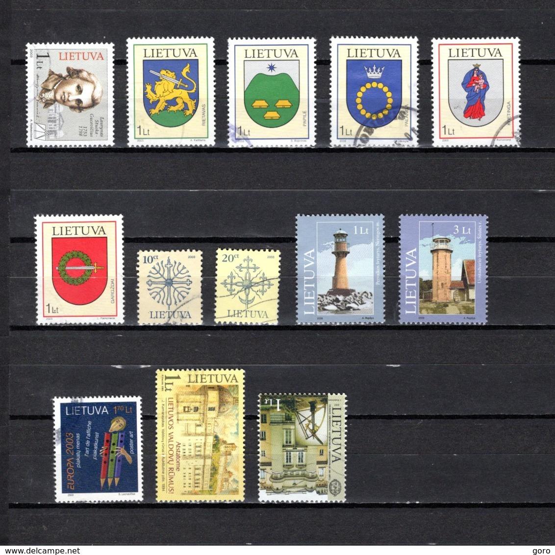 Lituania   2003  .-  Y&T  Nº  703-705/709-710/711-712/713-714-715-716 - Lituania