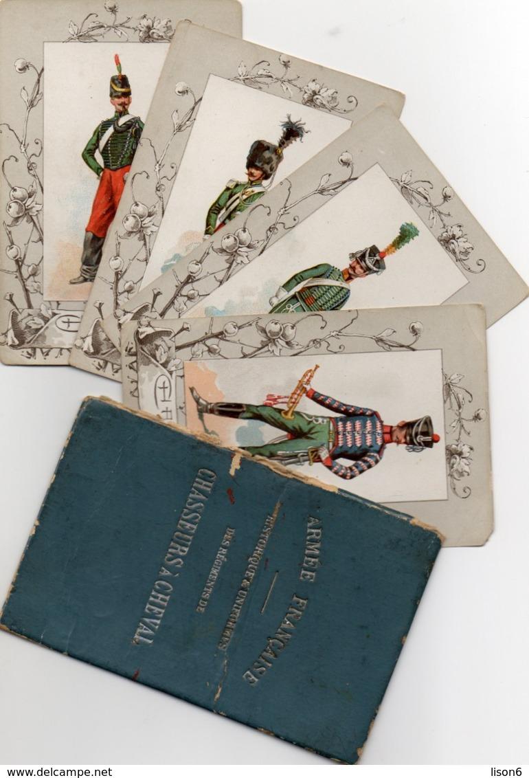 Vends 4 Chromos Militaires + Couverture Du Livret  Illustrateur  EUGENE TITEUX - Chromo