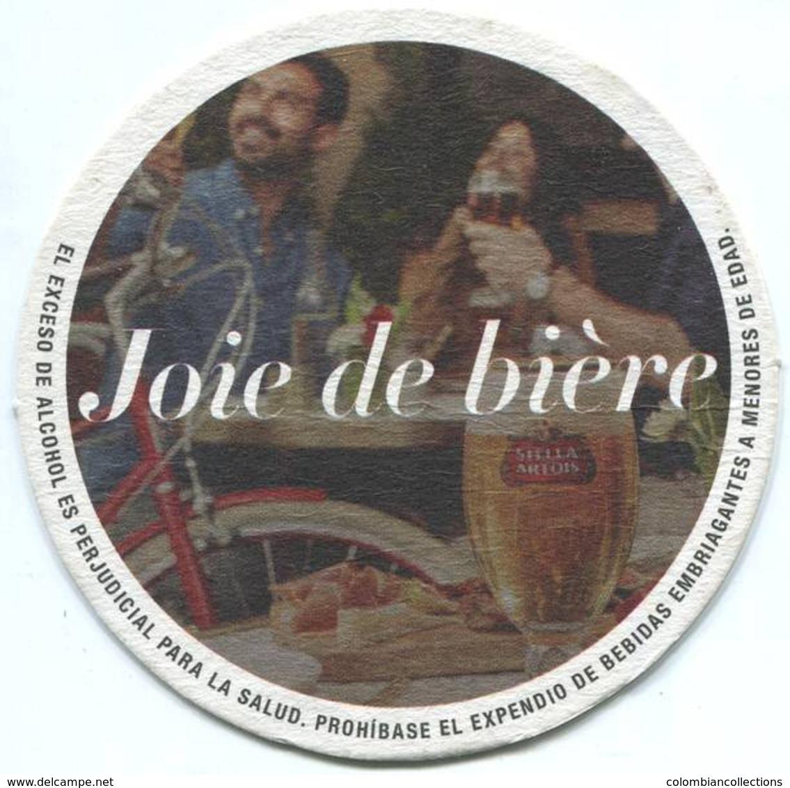 Lote 455, Colombia, Posavaso, Coaster, Stella Artois, Pareja, Texto En Español - Portavasos