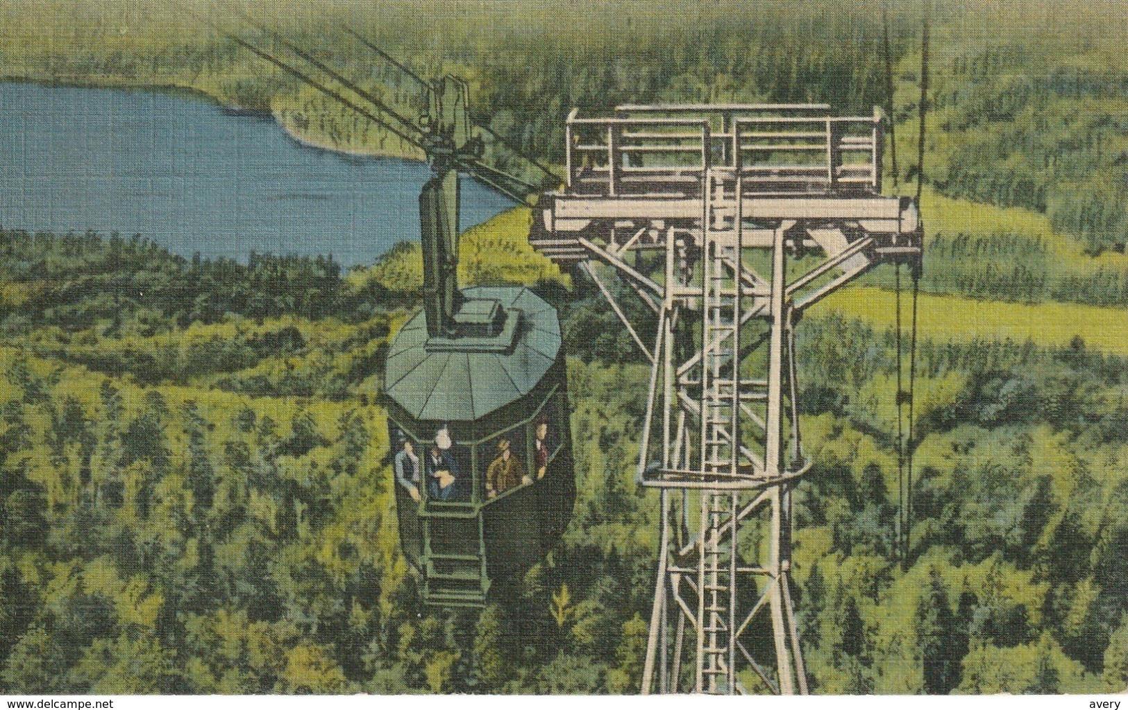 Tram Car, Cannon Mountain Aerial Tramway, Franconia Notch, White Mountains, New Hampshire - White Mountains