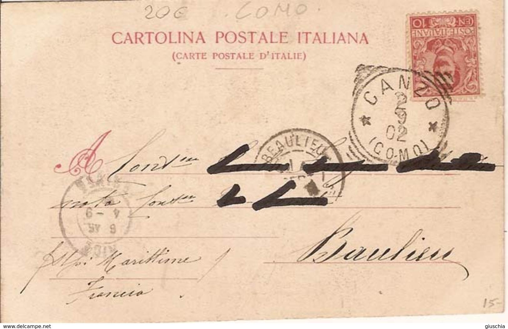 (C).Canzo(CO).Prepositurale E Piazza Del Mercato.F.to Piccolo.Viaggiata (c16) - Como