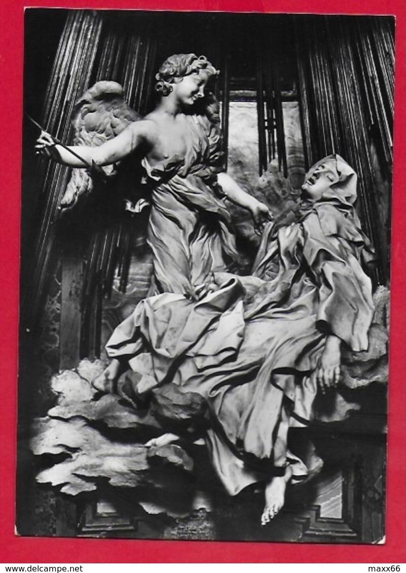 CARTOLINA NV ITALIA - Estasi Di S. Teresa - BERNINI - Chiesa Di S. Maria Della Vittoria ROMA - 10 X 15 - Sculture