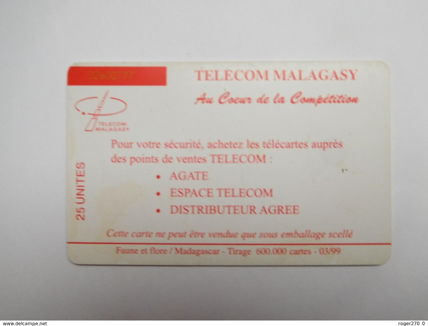Télécarte Magagascar , Malagasy , Lémurien - Madagaskar