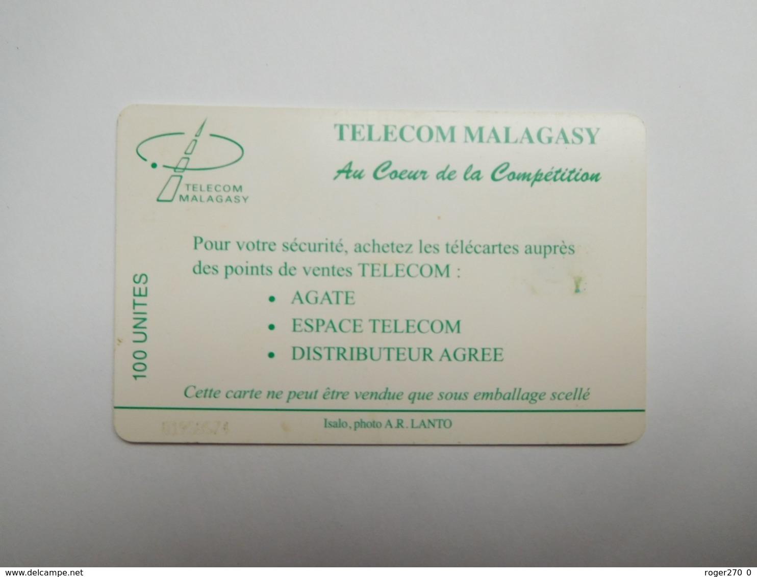 Télécarte Magagascar , Malagasy , Isalo - Madagaskar