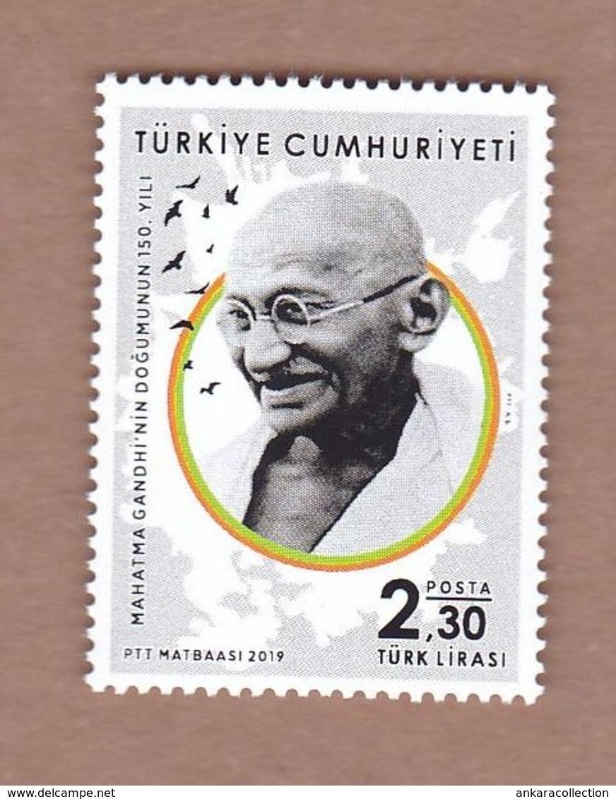 AC - TURKEY STAMP - 150th BIRTH ANNIVERSARY OF MAHATMA GANDHI INDIA MNH 24 SEPTEMBER2019 - 1921-... República