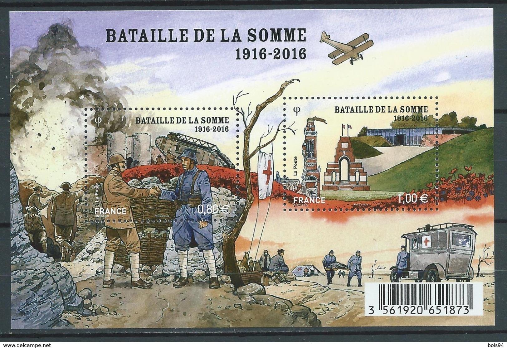 """FRANCE 2016 . Feuillet F5075 . """" Centenaire De La Bataille De La Somme """". Neuf ** (MNH) - Blocs & Feuillets"""