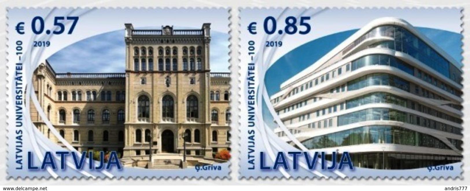 Latvia Lettland Lettonie 2019 (16) University Of Latvia - 100 Years. Architecture - Lettonia