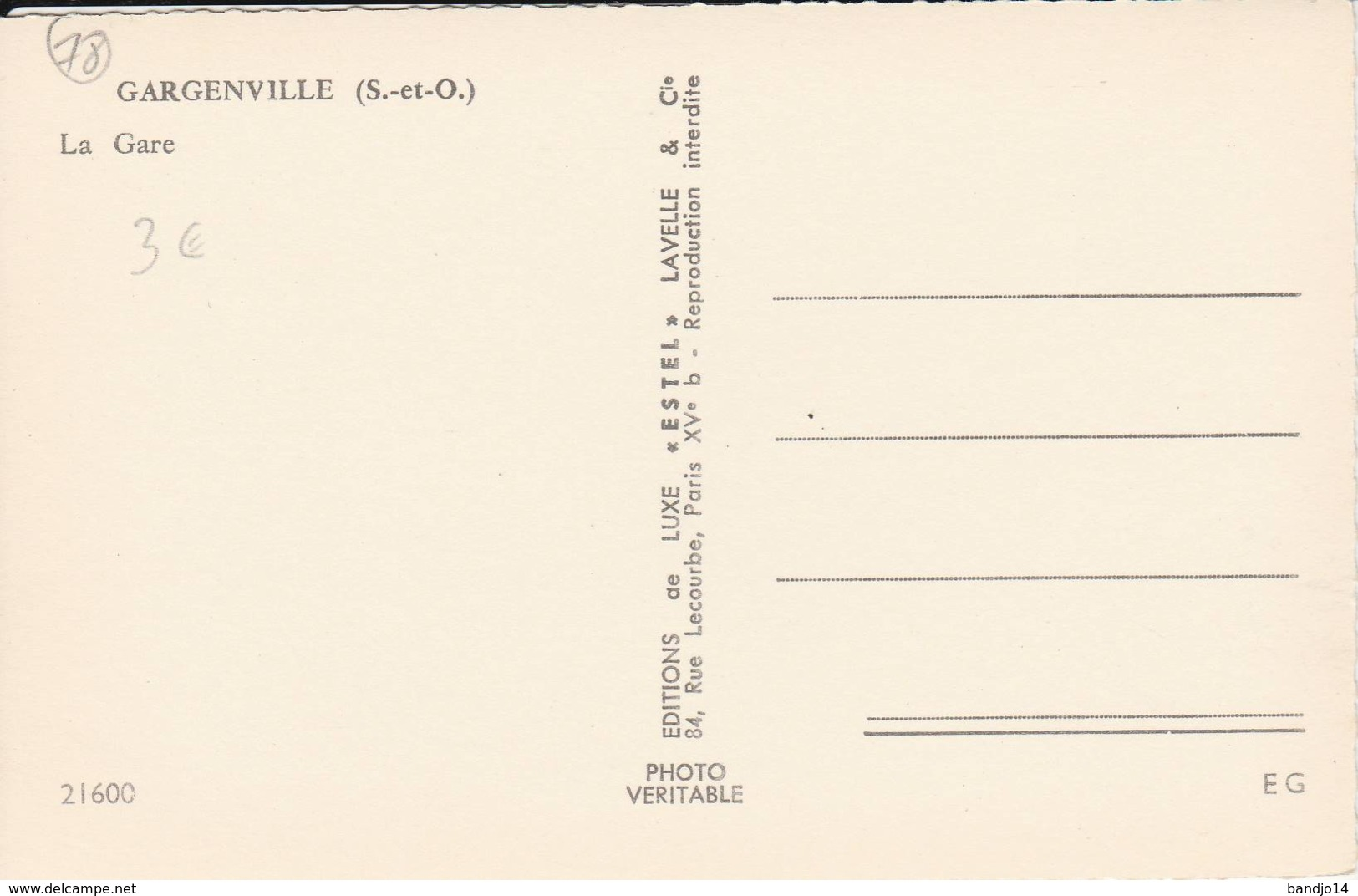 Gargenville - La Gare  (beau Plan De Locomotive )  - Cpsm Petit  Format - Scan Recto-verso - Gargenville