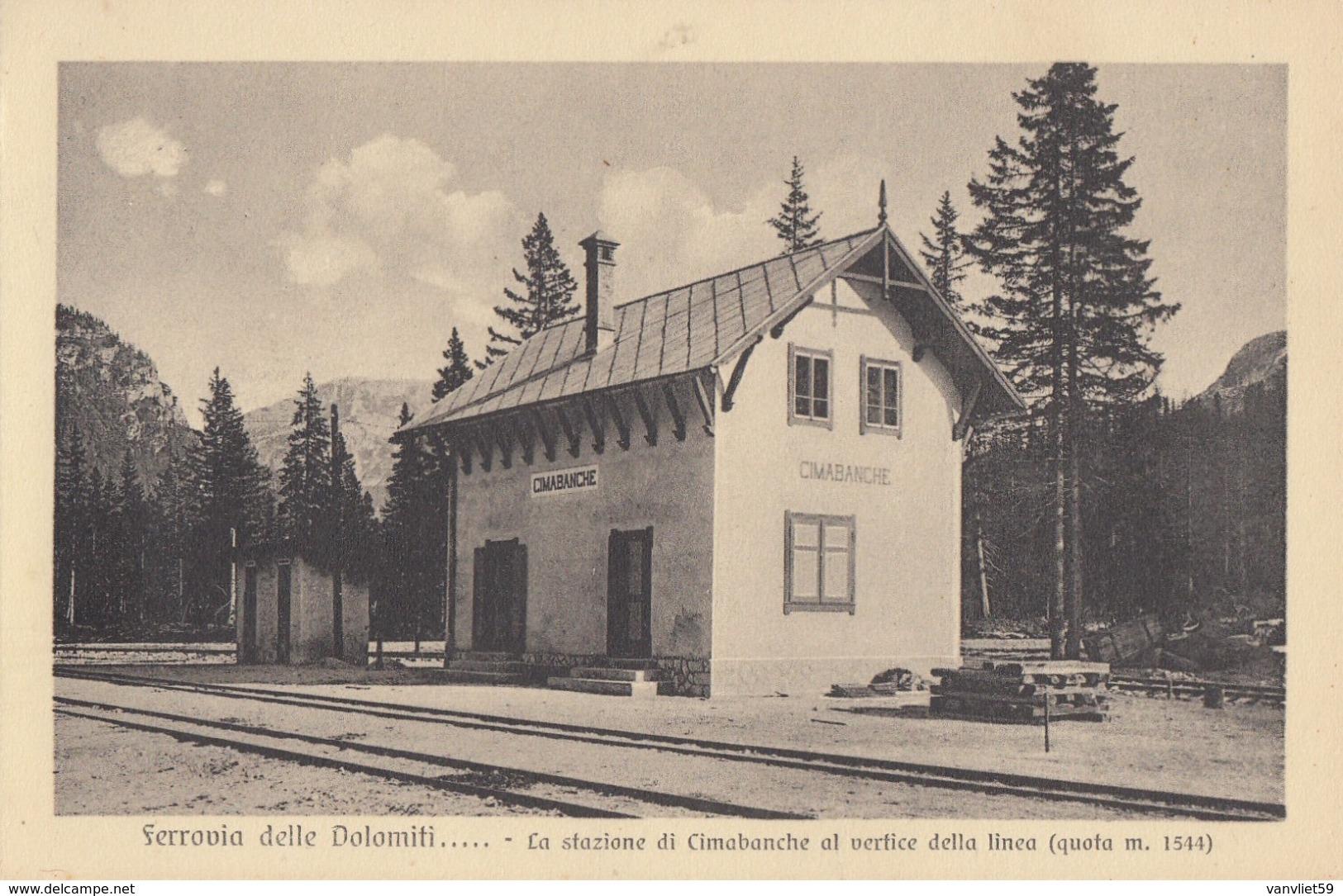 CIMABANCHE-BOZEN-BOLZANO-LA STAZIONE-FERROVIA DELLE DOLOMITI-NON VIAGGIATA - Bolzano