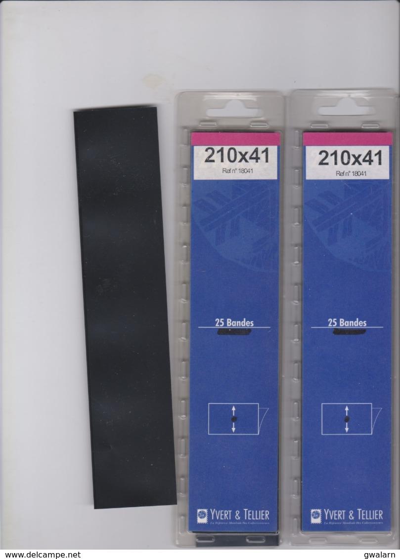 50 Bandes YVERT Et TELLIER Pour Feuilles Neutres Ou Sans Pochettes 210mm * 41 Mm - Non Classés