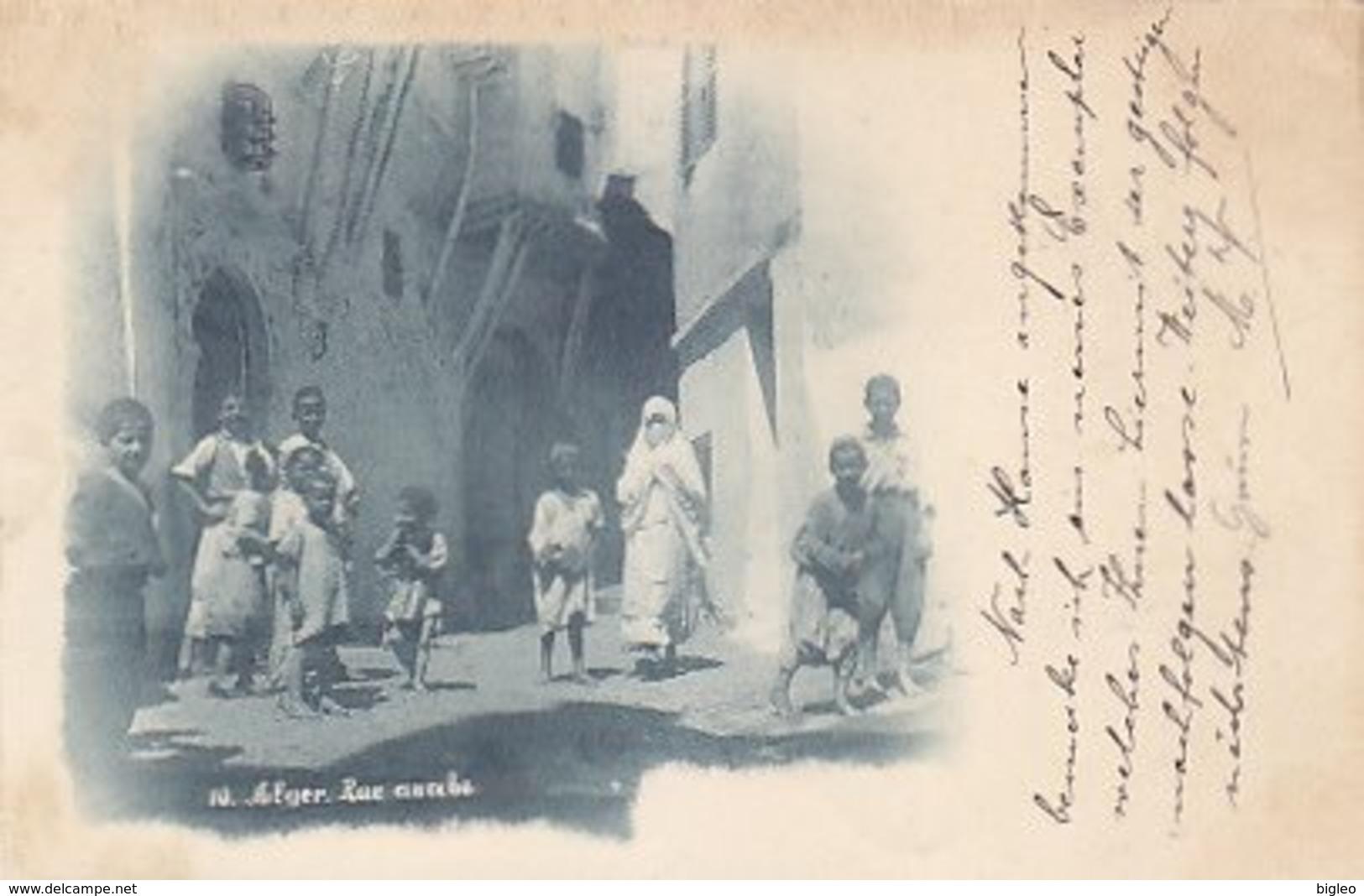 """Alger - Rue Arabe - Oblit.""""Ligne D'Alger"""" - 1898          (A-114-170720) - Algeri"""