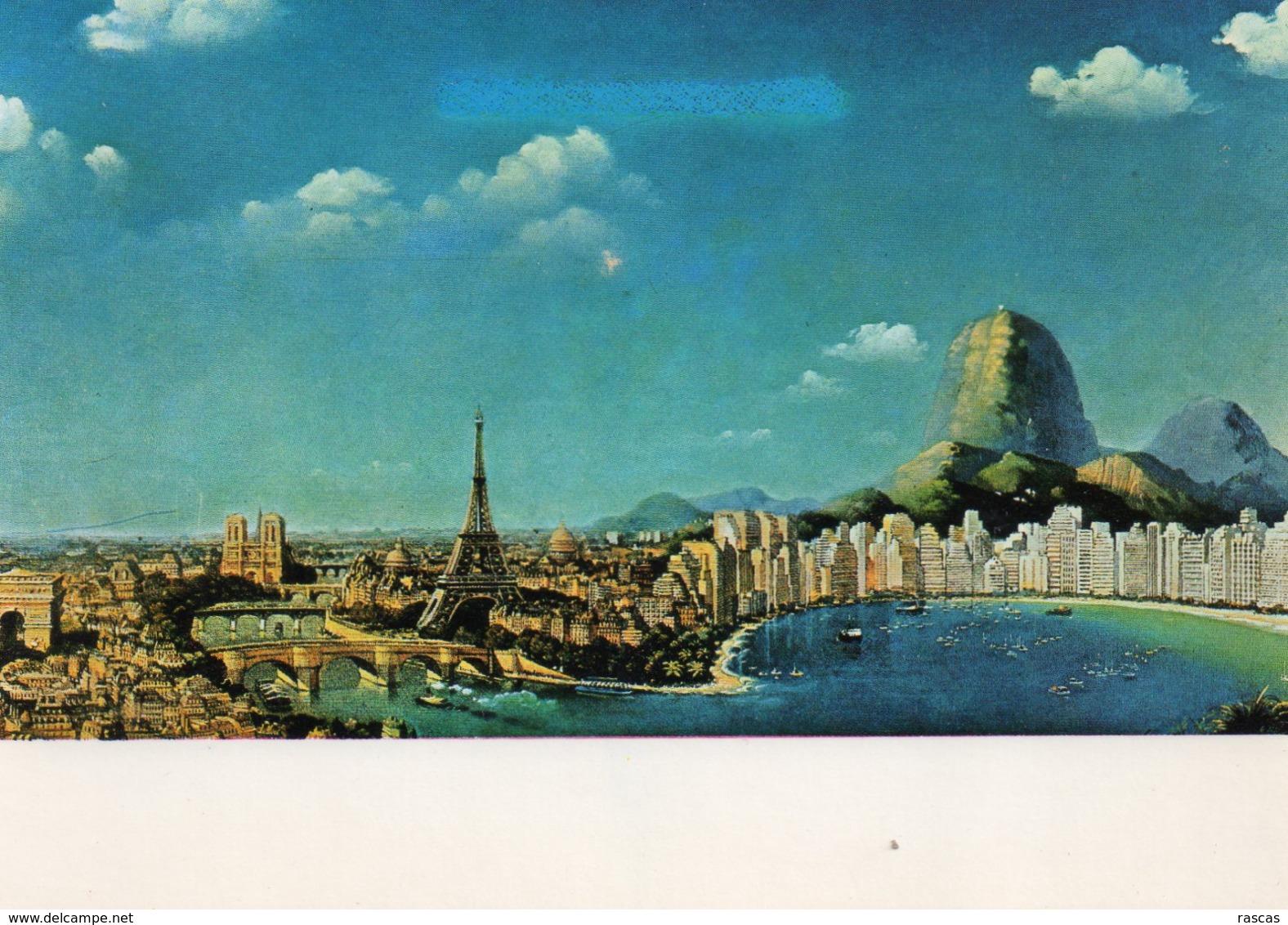 CPM - E - PEINTURE DE MICHEL DUBRE - REFAITES LE MONDE AVEC CONCORDE - TOUR EIFFEL - Pintura & Cuadros