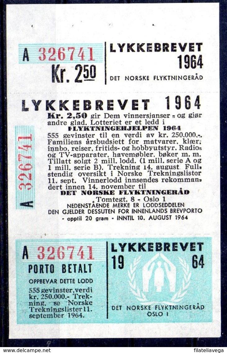 Noruega Loteria Año 1964 ** - Nuevos