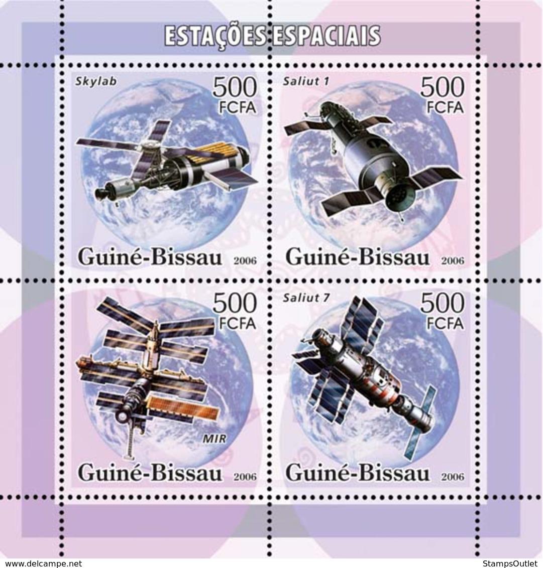 Guinea - Bissau 2006 - Space Stations 4v Y&T 2170-2173, Michel 3338-3341 - Guinea-Bissau