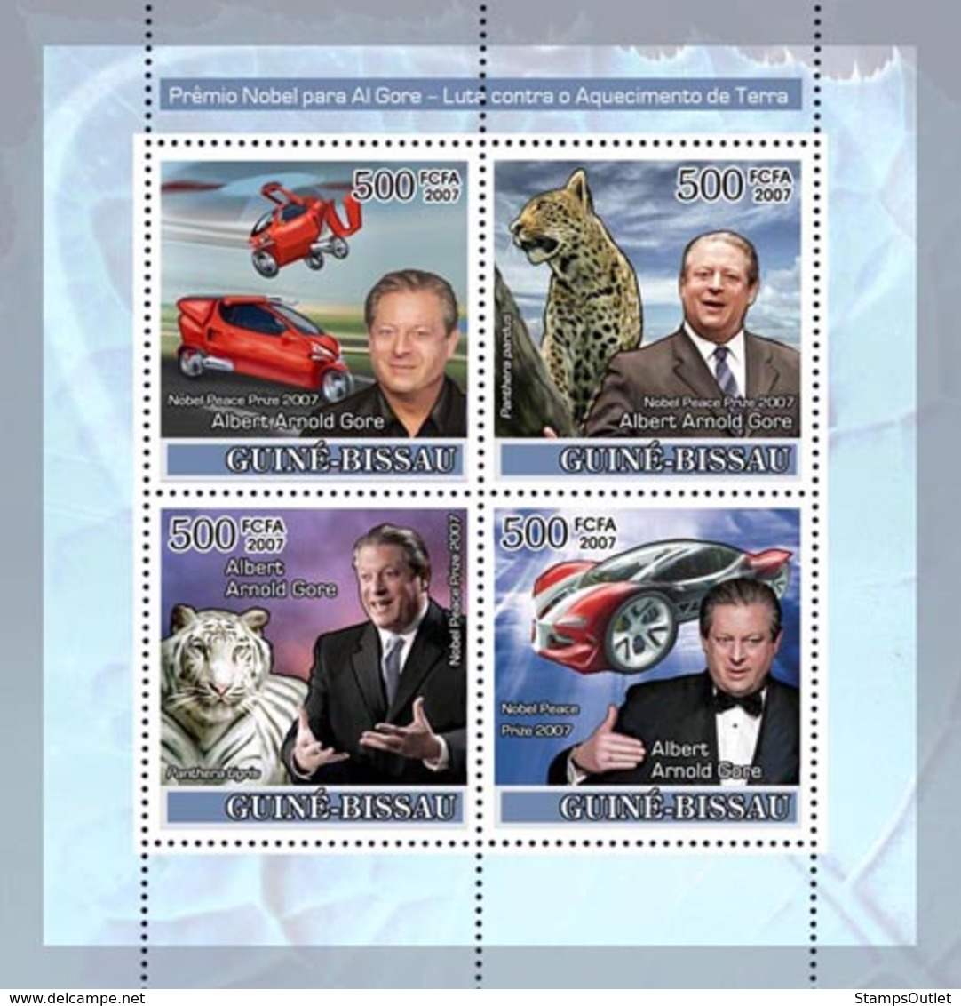 Guinea - Bissau 2007 - Nobel Prize To A. Gore/Climate Problems 4v Y&T 2400-2403, Michel 3668-3671 - Guinea-Bissau