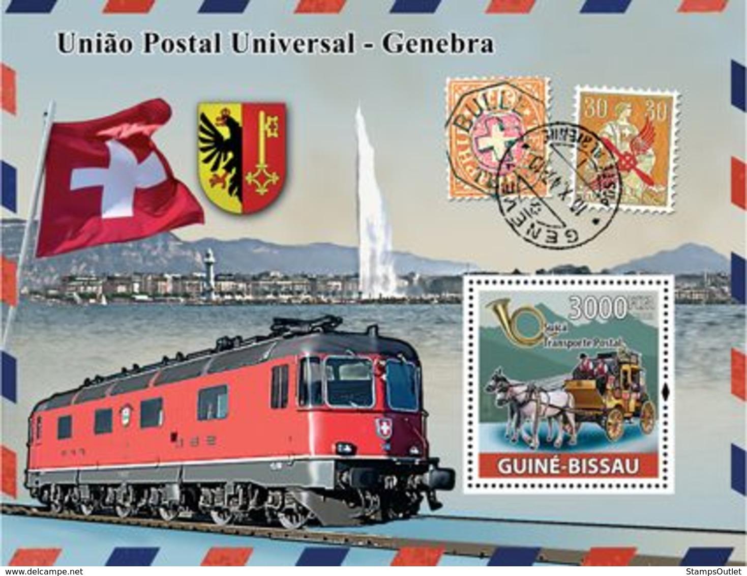 Guinea - Bissau 2008 - UPU, Transports Of Post (car, Train) S/s Y&T 422, Michel 3883/BL662 - Guinée-Bissau
