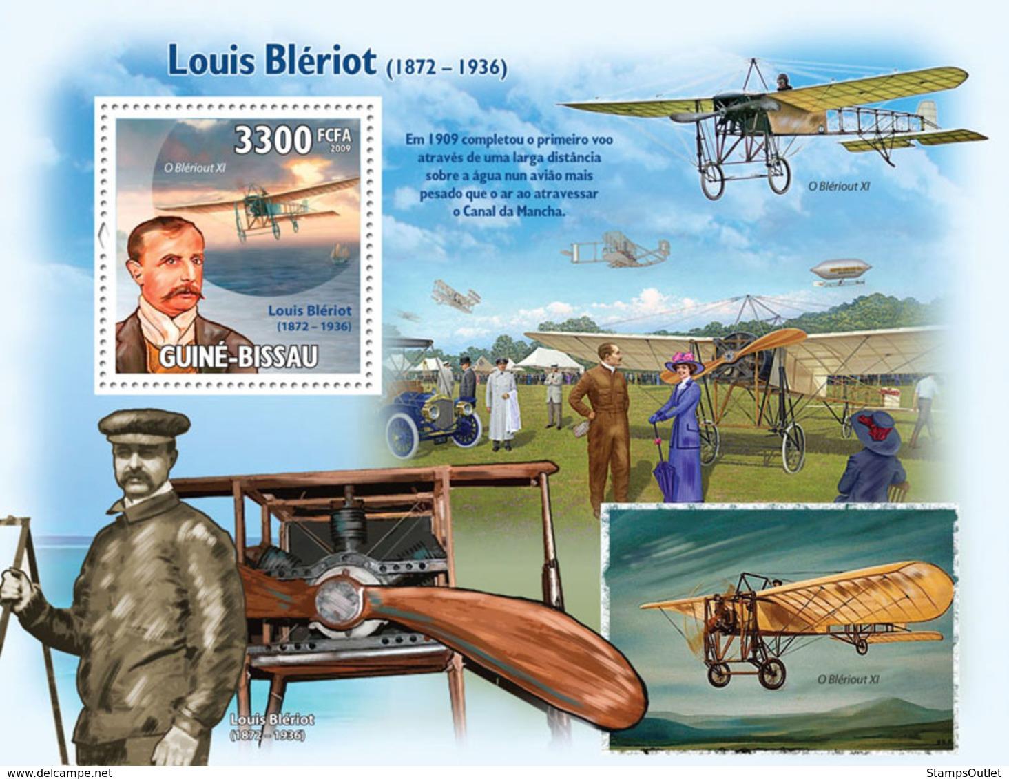 Guinea - Bissau 2009 - Luis Bleriot (1872-1936) & Planes S/s Y&T 486, Michel 4514/BL736 - Guinea-Bissau