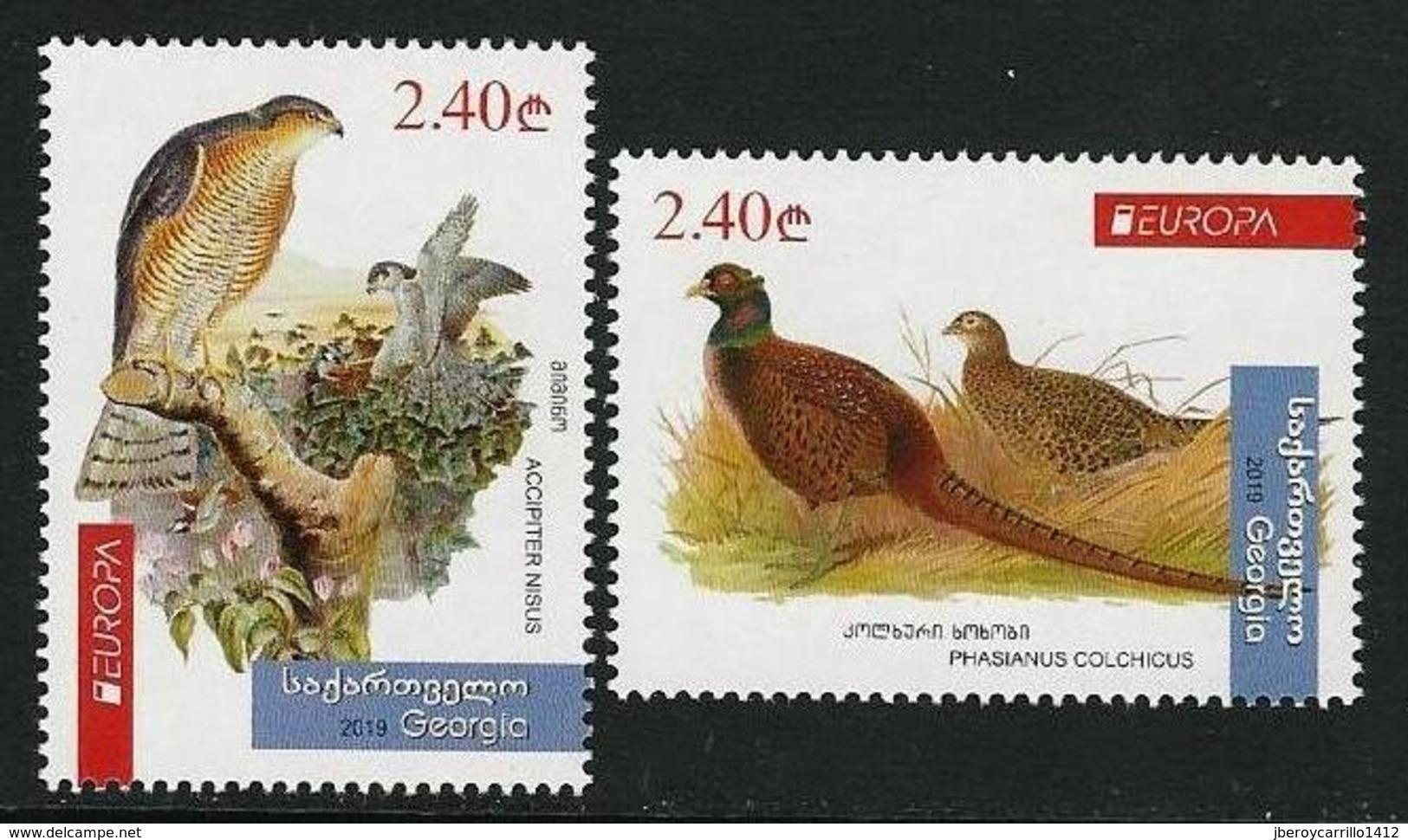 "GEORGIA /GEORGIEN /LA  GÉORGIE -EUROPA 2019 -NATIONAL BIRDS.-""AVES -BIRDS -VÖGEL -OISEAUX""- SERIE De 2 V. - N - 2019"