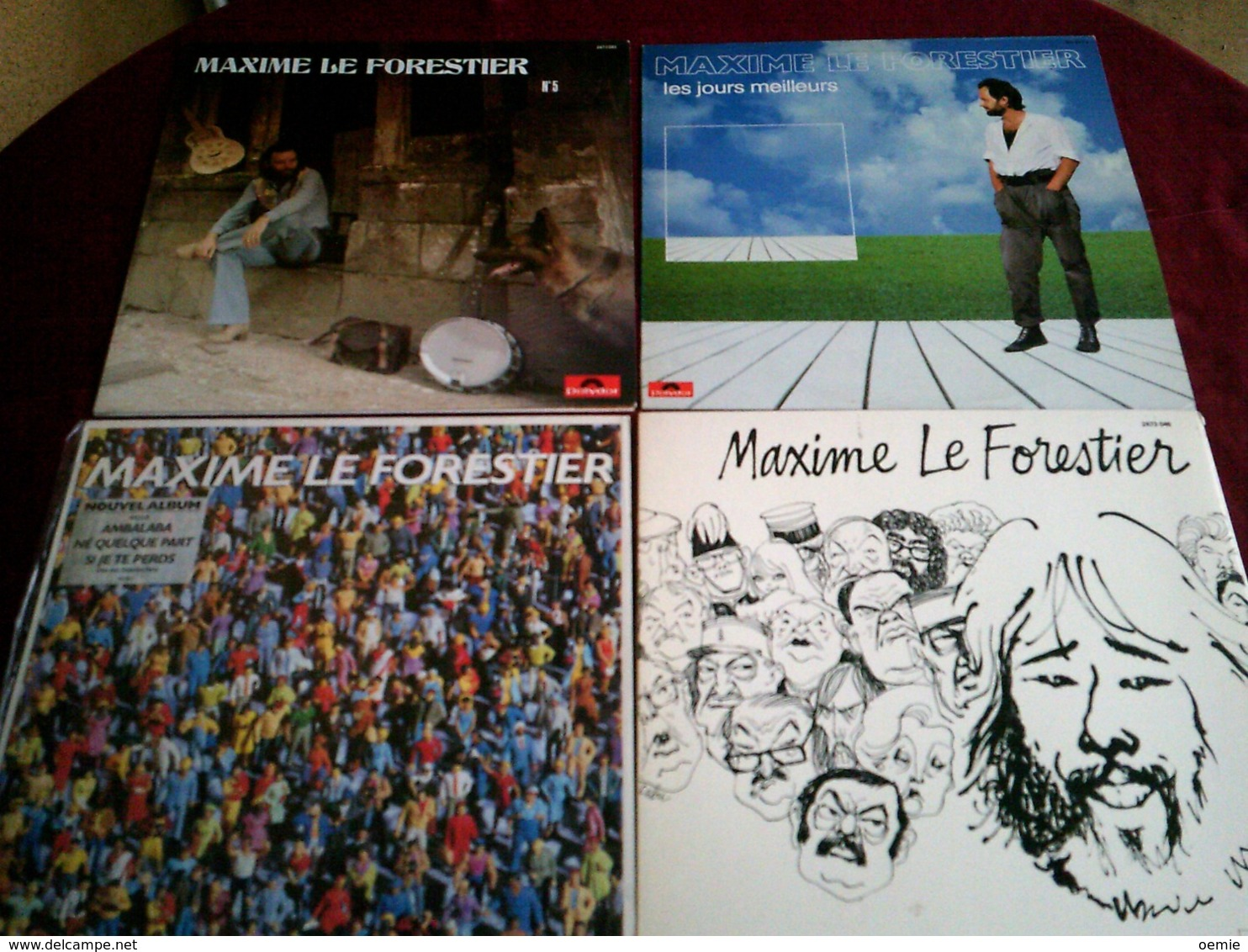 MAXIME LE FORESTIER  °  COLLECTION DE 12 VINYLES - Colecciones Completas