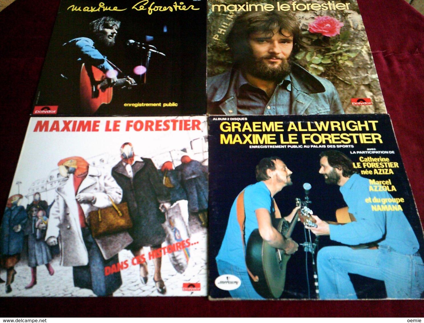 MAXIME LE FORESTIER  °  COLLECTION DE 12 VINYLES - Vollständige Sammlungen