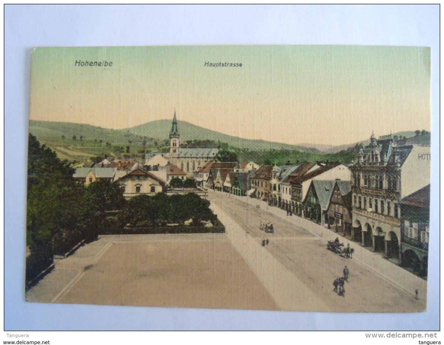 Cpa Vrchlabi Hohenelbe Hauptstrasse Circulée Used 1909 - Tschechische Republik