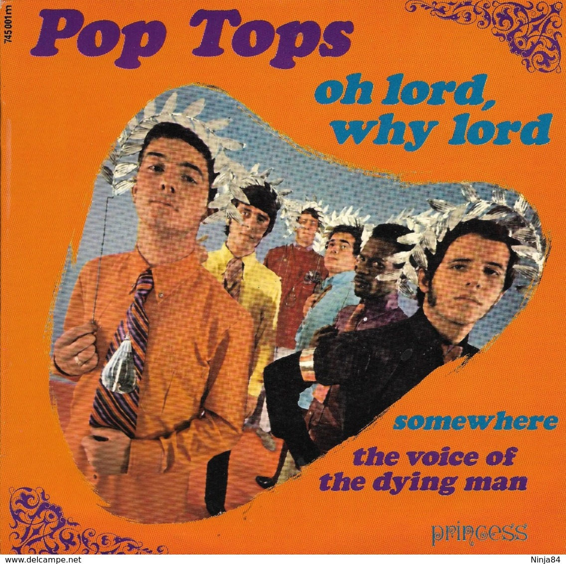"""EP 45 RPM (7"""")  Pop Tops  """"  Oh Lord, Why Lord  """" - Unclassified"""