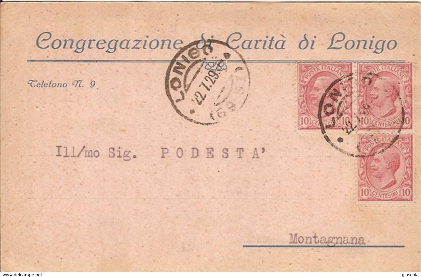 (C).Lonigo(VI).Cartolina Commerciale Intestata (4-a18) - Vicenza
